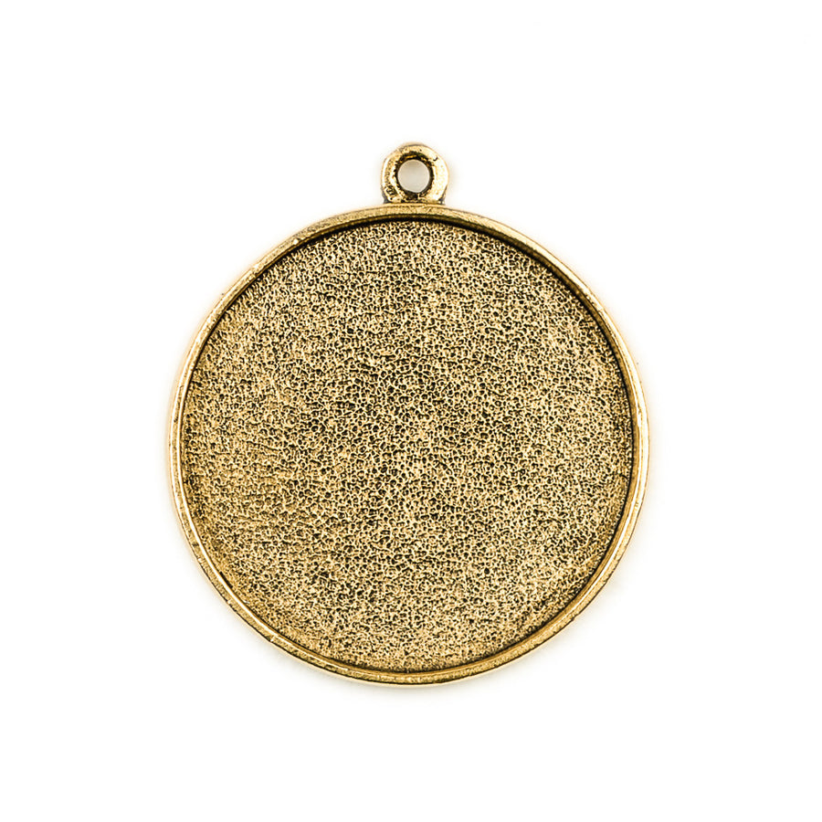 Pendant Circle - Antique Gold