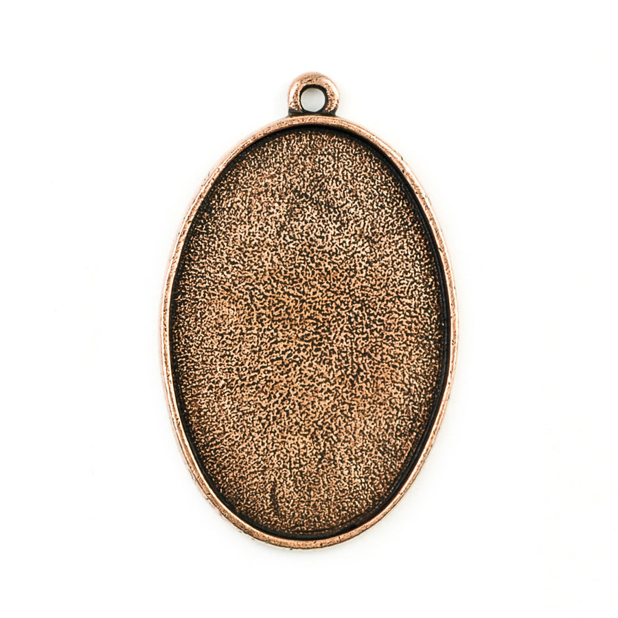 Pendant Oval  - Antique Copper