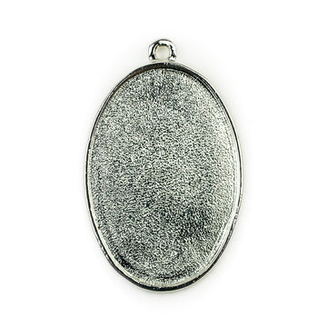 Pendant Oval  - Sterling Silver