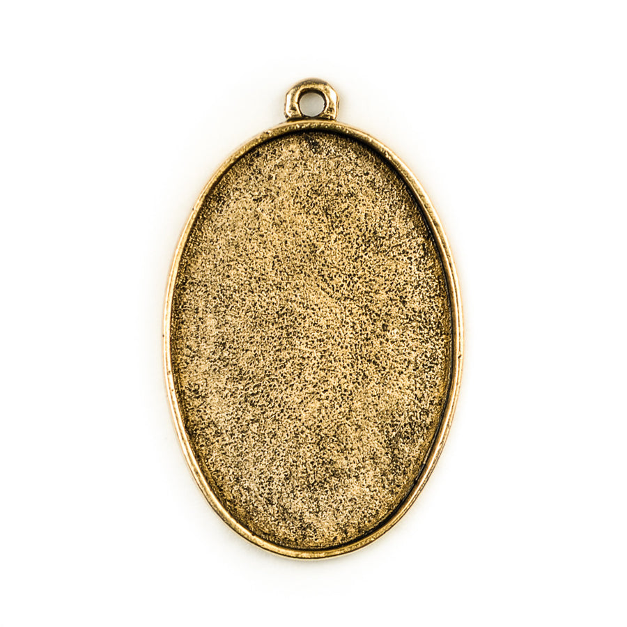 Pendant Oval  - Antique Gold
