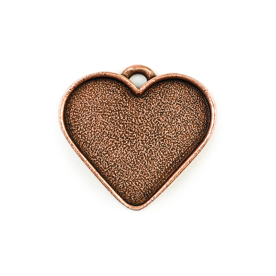 Pendant Heart  - Antique Copper