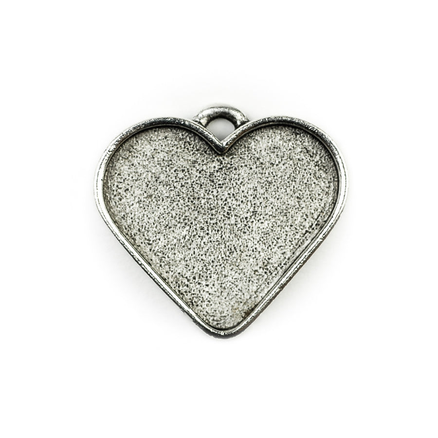 Pendant Heart  - Antique Silver