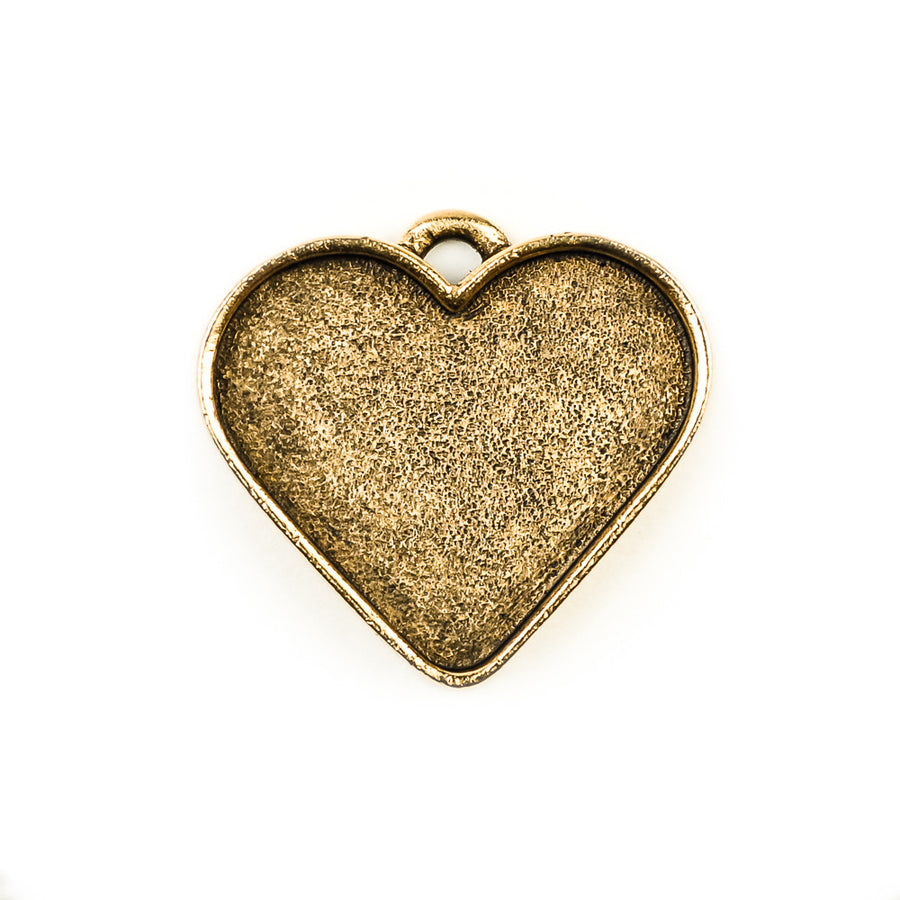 Pendant Heart  - Antique Gold