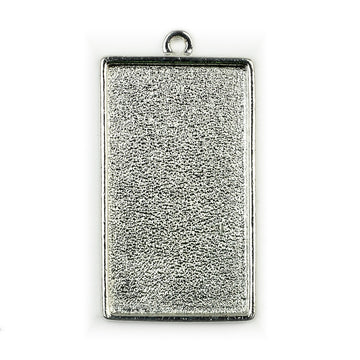 Pendant Rectangle - Sterling Silver