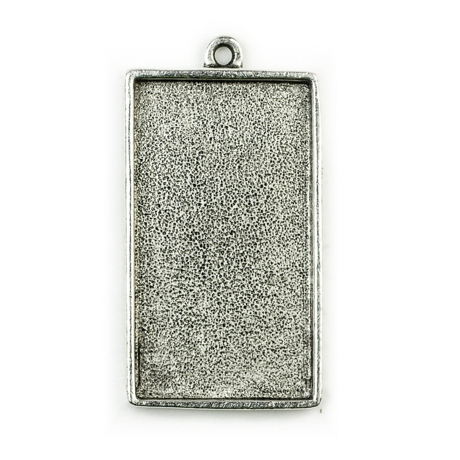Pendant Rectangle - Antique Silver