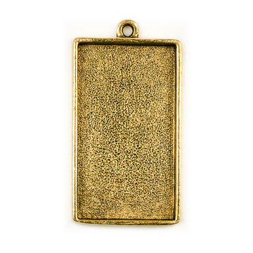 Pendant Rectangle - Antique Gold