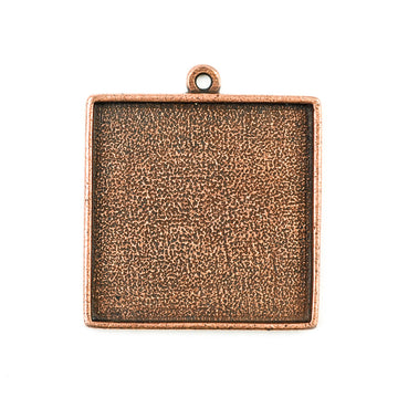 Pendant Square - Antique Copper