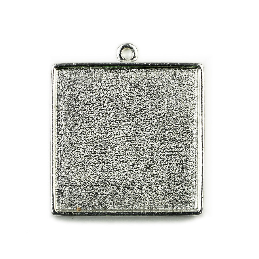 Pendant Square - Sterling Silver