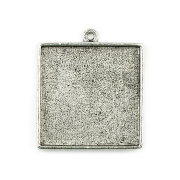 Pendant Square - Antique Silver