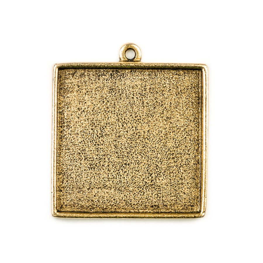 Pendant Square - Antique Gold