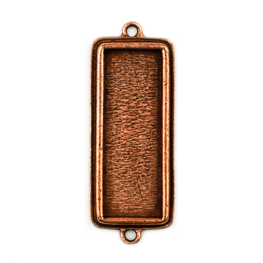 Pendant Rectangle Double Loop - Antique Copper