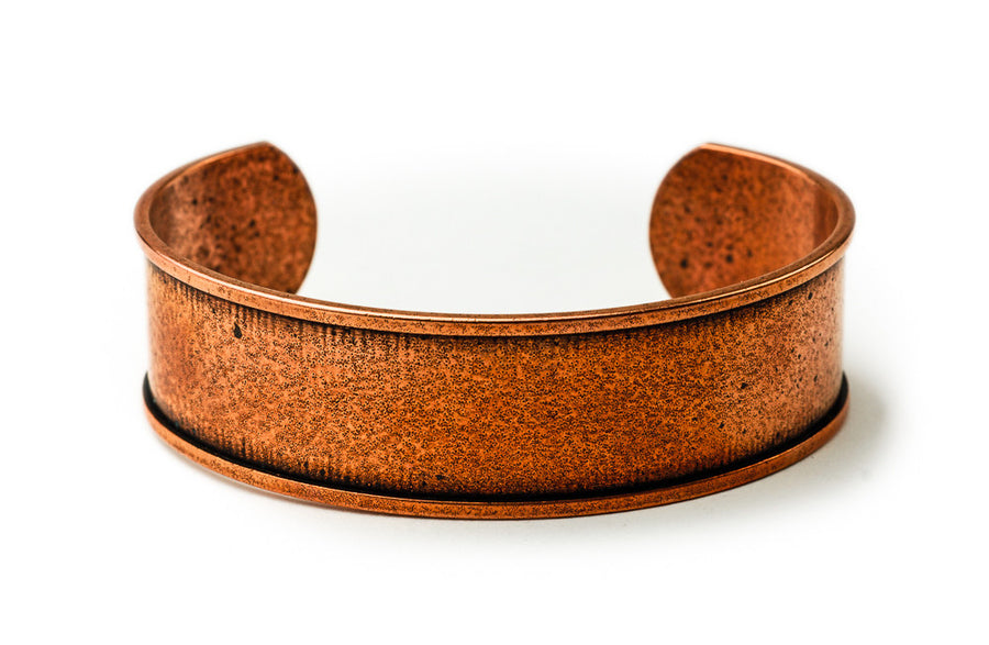 Cuff Bracelet Channel - Antique Copper
