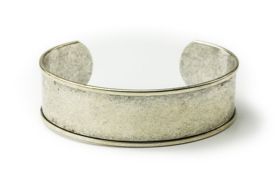 Cuff Bracelet Channel - Antique Silver