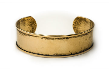 Cuff Bracelet Channel - Antique Gold