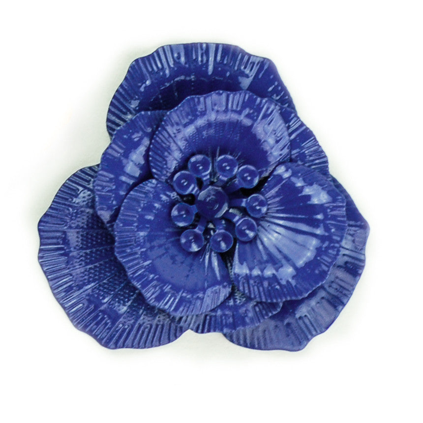 Hummingbird Florals - Style #1 - Deep Sea Blue Sm. Flower