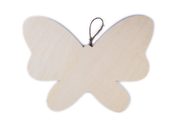 Butterfly Wood Plaque with Hanger - 11.875 x 8.5 inches