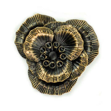 Hummingbird Florals - Style #1 - Brunished Bronze Sm. Flower
