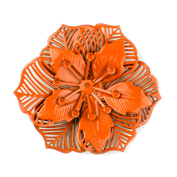 Hummingbird Florals - Style #2 - Flame Orange Lg. Flower