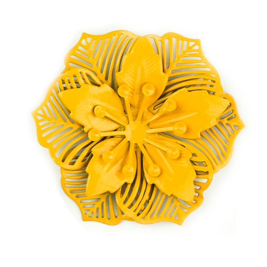Hummingbird Florals - Style #2 - Sunflower Yellow Lg. Flower