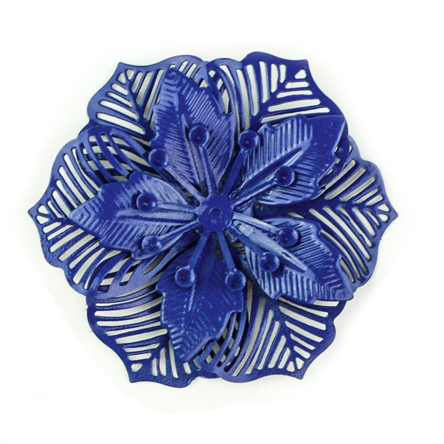 Hummingbird Florals - Style #2 - Deep Sea Blue Lg. Flower