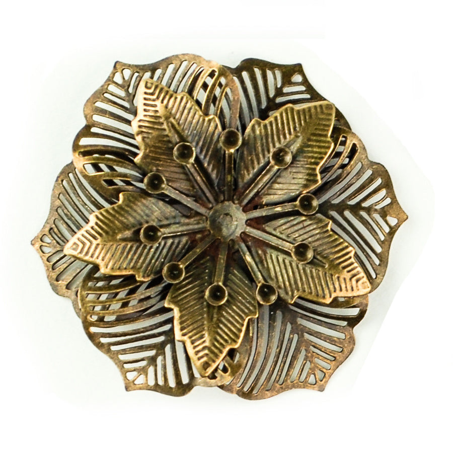 Hummingbird Florals - Style #2 - Brunished Bronze Lg. Flower