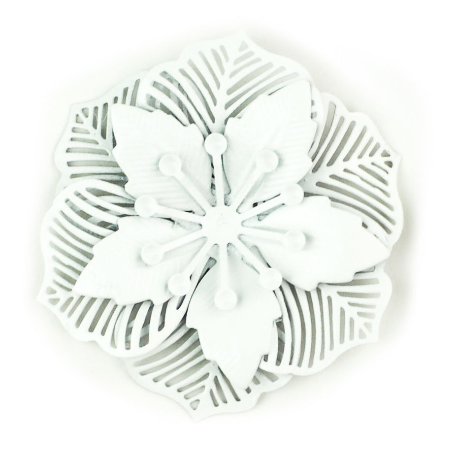 Hummingbird Florals - Style #2 - Wedding White Lg. Flower