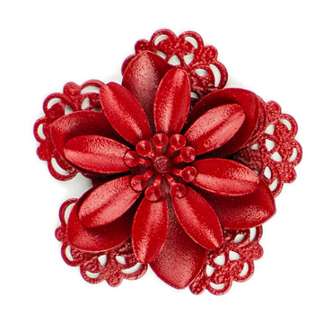 Hummingbird Florals - Style #3 - Crimson Red Lg. Flower