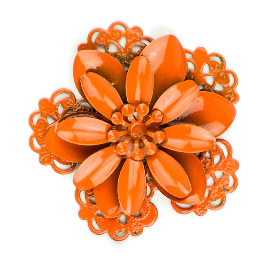 Hummingbird Florals - Style #3 - Flame Orange Lg. Flower