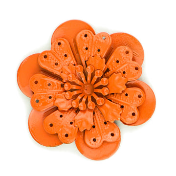 Hummingbird Florals - Style #4 - Flame Orange Lg. Flower