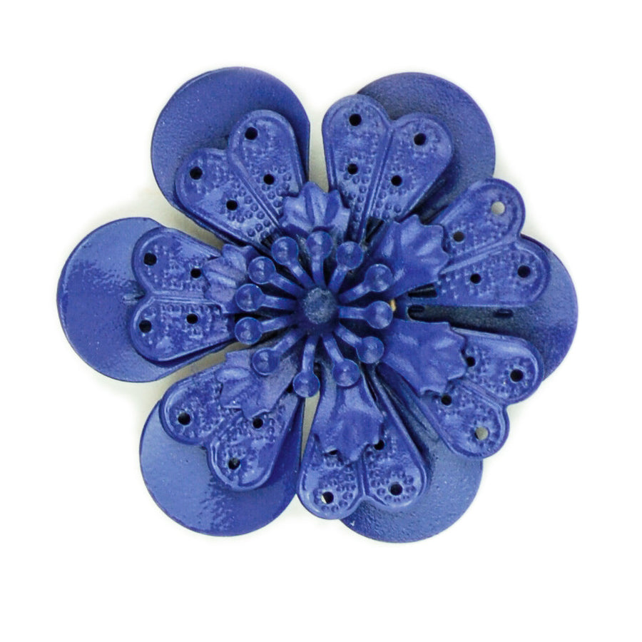 Hummingbird Florals - Style #4 - Deep Sea Blue Lg. Flower