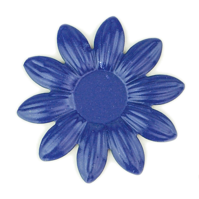 Hummingbird Florals - Style #5 - Deep Sea Blue Sm. Flower