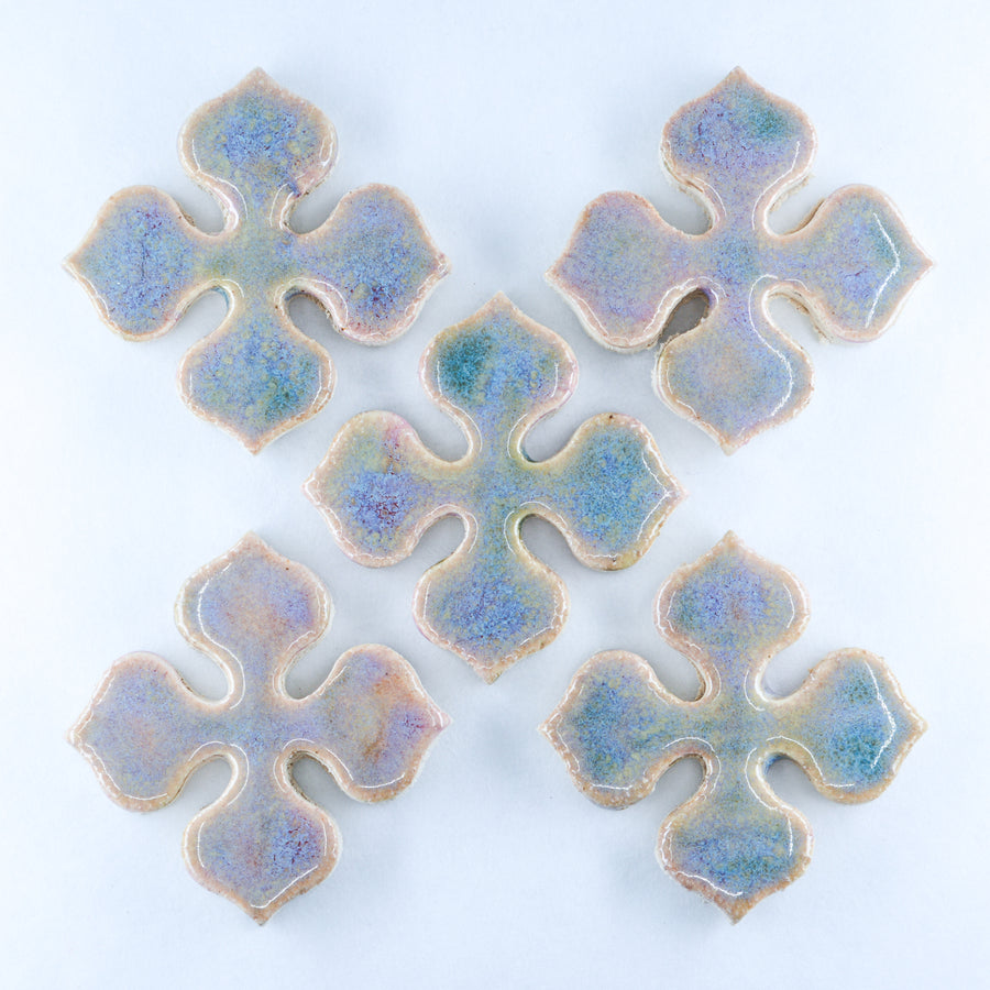 35mm Flower Motif - Handmade Ceramic tiles