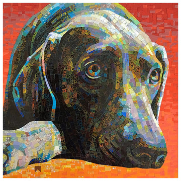 Color Freedom Wasser Glass Mosaic Pet/Animal Portrait with Donna Van Hooser