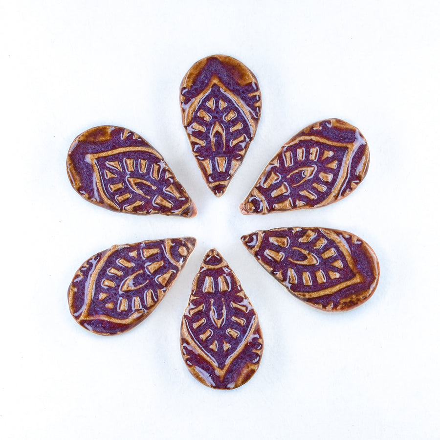 Moroccan 25mm Tear Drop  - Handmade Ceramic tiles