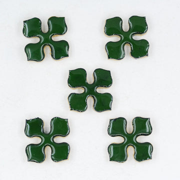 20mm Flower Motif - Handmade Ceramic tiles