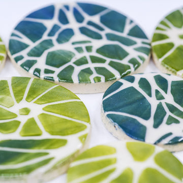 Abstracted Circles - Handmade Ceramic tiles