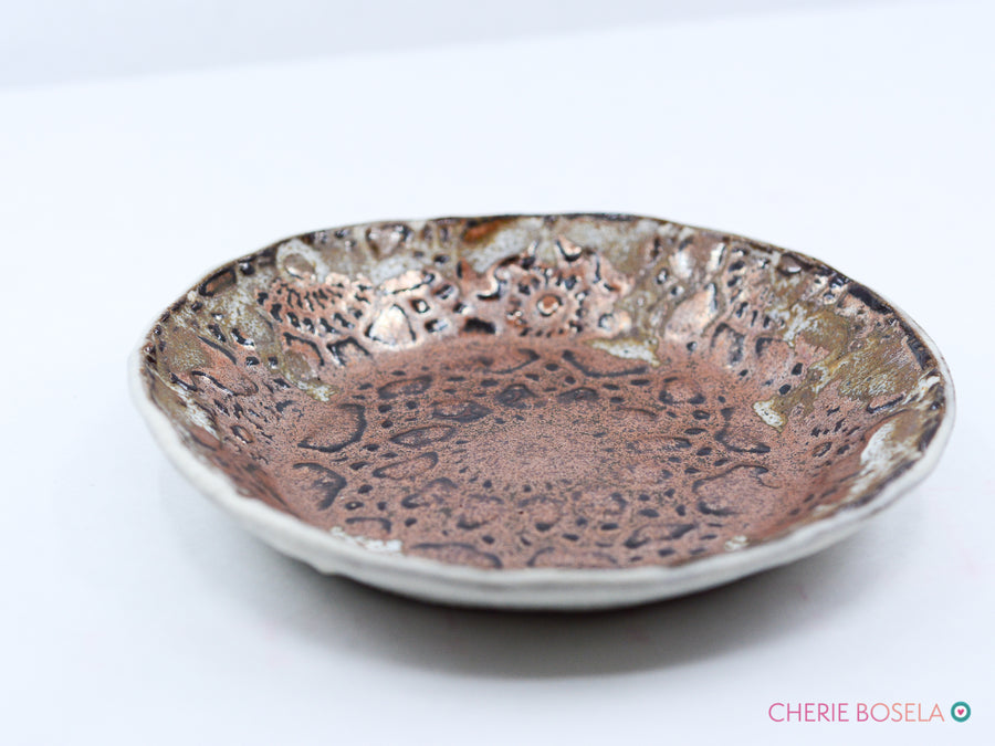 Lacy Copper Trinket Dish