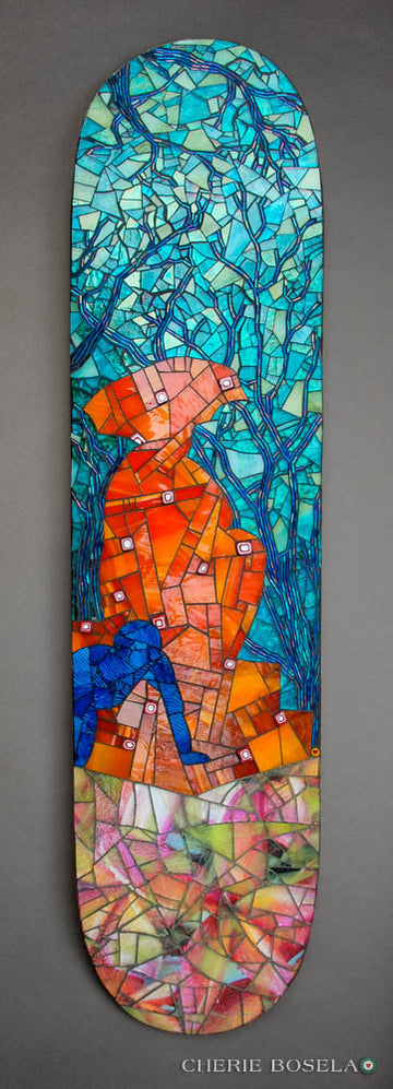 Sitting, Waiting, Wishing - Mosaic Fine Art