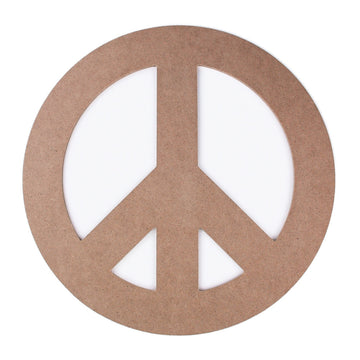 Peace Sign - MDF Wood - 12 inches