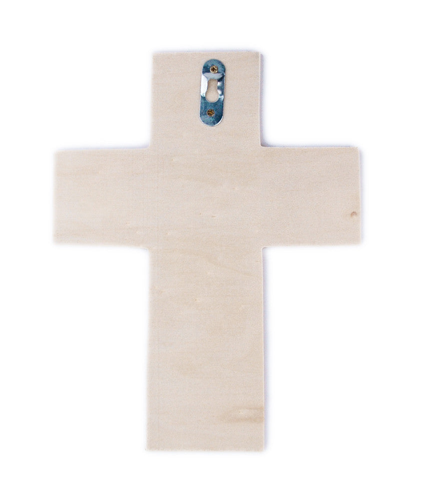 Traditional Wood Cross - 7 x 9 inches