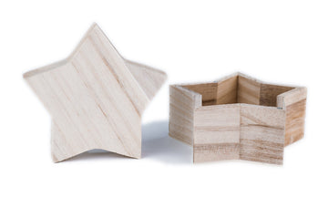 Wooden Star Box - Magnetic Lids