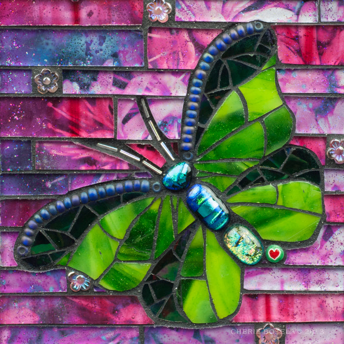 Chartreuse Butterfly - Blank Greeting Card