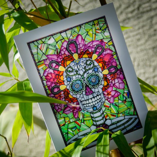 Lolo - Day of the Dead - Blank Greeting Card