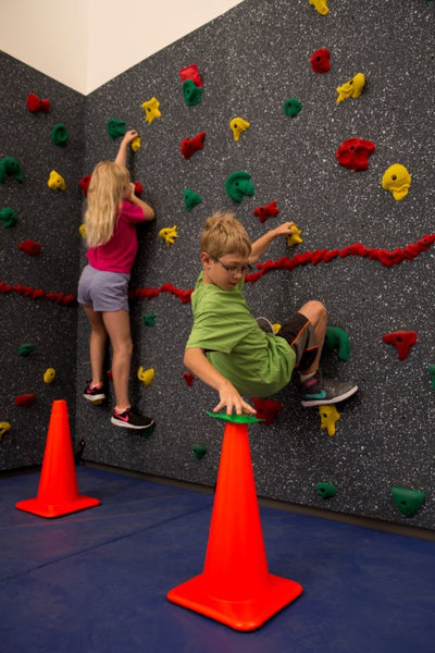 Climbing Wall Activity of the Month: Climbing Wall Cone Challenge