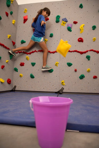 Climbing Activity of the Month: Climbing Wall Target Practice