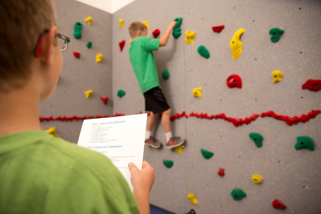 Climbing Wall Activity of the Month: Sarah Says