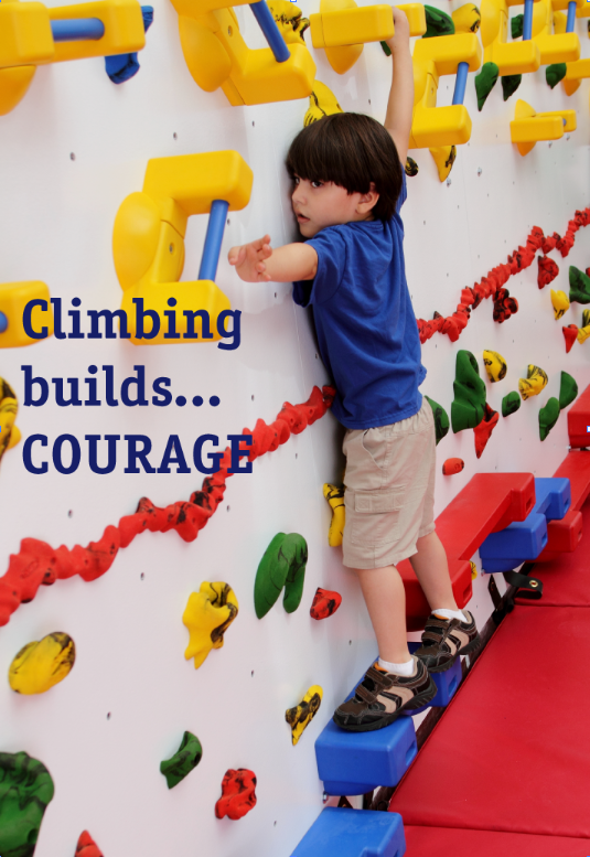 Climbing Builds...Courage