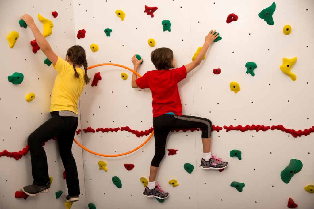 Climbing Wall Activity of the Month: Hula Hoop Haven