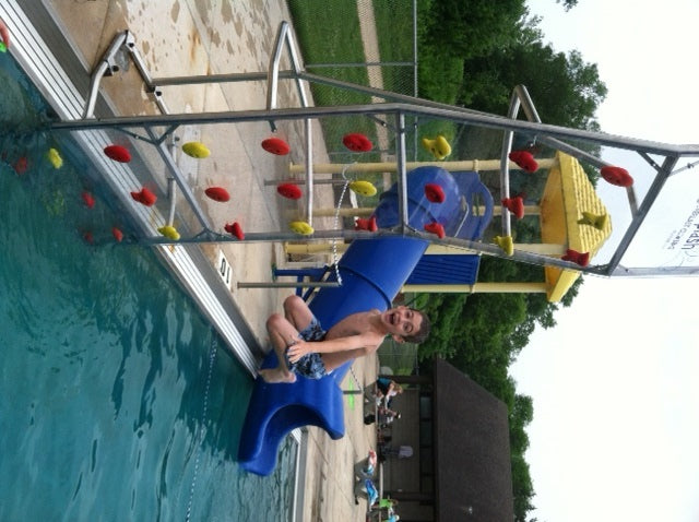Even with Winter's Low Temps, Camp plans for Record Highs with Pool Climbing Wall.