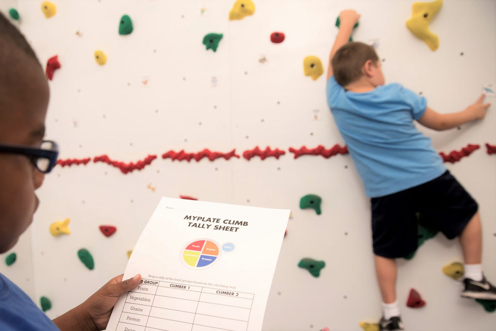 Get Them Rocking Nutrition Concepts through Climbing